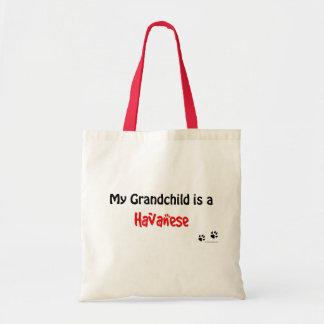 Havanese Grandchild Tote Bag