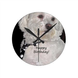 Havanese Happy Birthday Wallclock