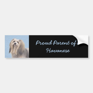 Havanese (Long Hair) Bumper Sticker