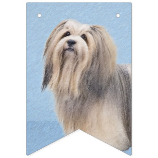 Havanese (Long Hair) Bunting Flags