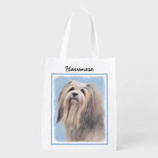 Havanese (Long Hair) Grocery Bag