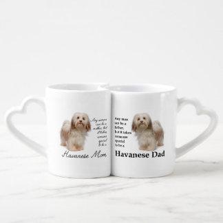 Havanese Mom and Dad Mug Set