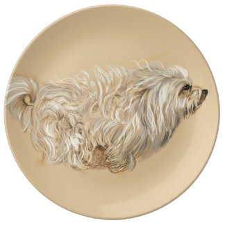 Havanese on the Move Plate