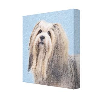 Havanese (Silver) Painting - Cute Original Dog Art Canvas Print