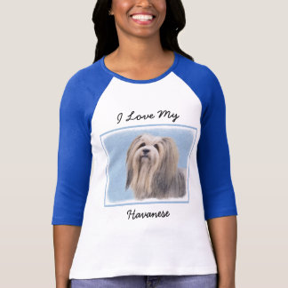 Havanese (Silver) Painting - Cute Original Dog Art T-Shirt