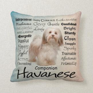 Havanese Traits Pillow