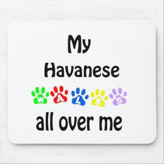 Havanese Walks Design Mouse Pad