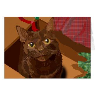Havannah Brown Cat note card & envelope