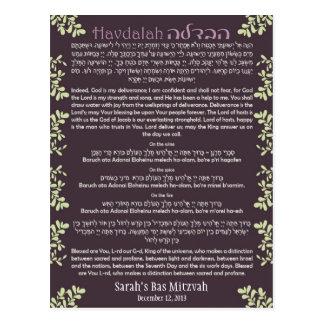 Havdallah Card