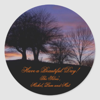 Have a Beautiful Day! Create Your Own Stickers!! Classic Round Sticker