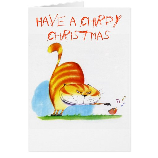 Have a chirpy christmas card