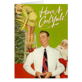 """""""Have A Cool Yule"""" Christmas Greeting Card"""