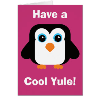 Have a Cool Yule Penguin Christmas Card