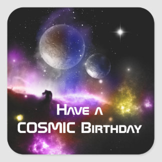 Have  a cosmic Birthday sticker set