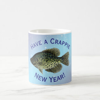 """""""Have a Crappie New Year"""" featuring black crappie Coffee Mug"""