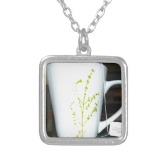 Have a cup O' tea! Silver Plated Necklace