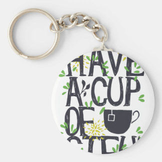 Have a cup of STU Keychain