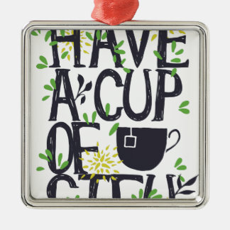 Have a cup of STU Metal Ornament