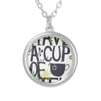 Have a cup of STU Silver Plated Necklace