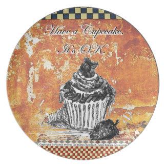 Have a Cupcake. It's OK. - Melamine Plate (2)