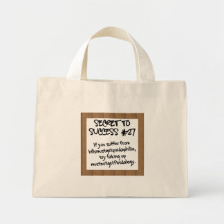 Have a Disaster Recovery Plan Mini Tote Bag