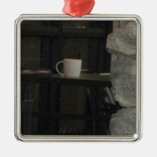 Have a drink Silver-Colored square ornament