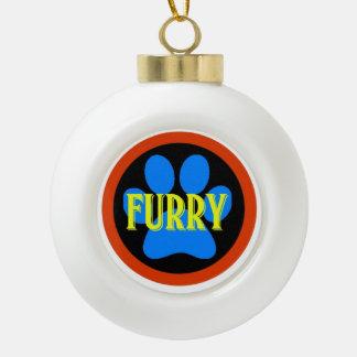 Have a furry Christmas Ceramic Ball Christmas Ornament