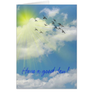 have a good day message in clouds card