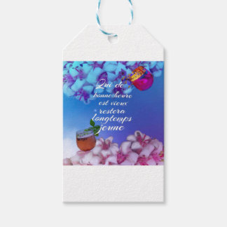 Have a good time and you will forever young. gift tags