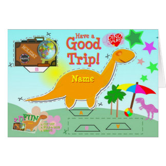 Have a Good Trip Dinosaur Card