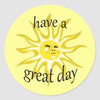 Have a Great Day Sunshine Affirmative Sticker