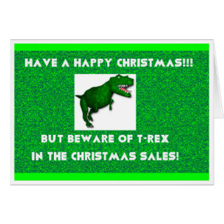 Have a Happy T-Rex Christmas Card