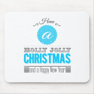 Have à Holly Jolly Carte de voeux Tapis De Souris