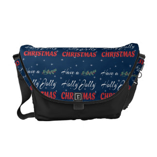 Have a Holly Jolly Christmas Commuter Bag