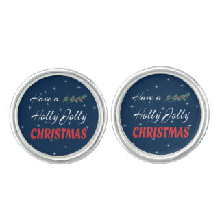 Have a Holly Jolly Christmas Cuff Links
