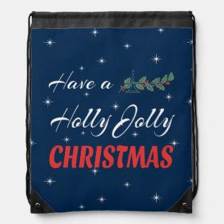 Have a Holly Jolly Christmas Drawstring Bag