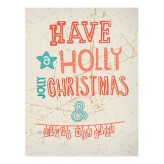 Have a Holly Jolly Christmas greeting Postcard