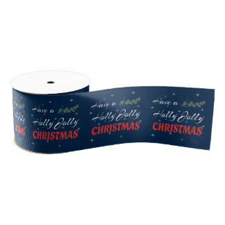 Have a Holly Jolly Christmas Grosgrain Ribbon