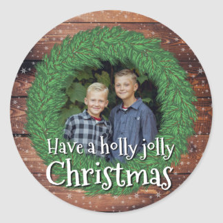 Have a Holly Jolly Christmas - Holidayzfordayz Classic Round Sticker