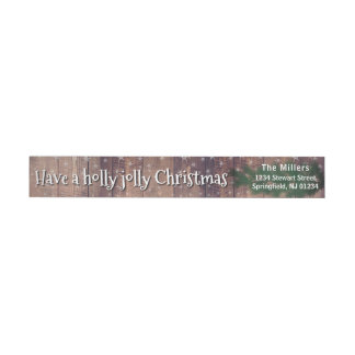 Have a Holly Jolly Christmas - Holidayzfordayz Wrap Around Label