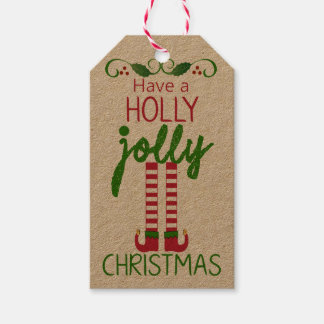 Have A Holly Jolly Christmas - Homemade Pack Of Gift Tags