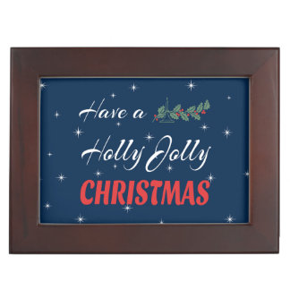 Have a Holly Jolly Christmas Keepsake Box