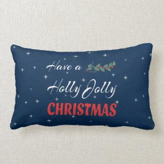 Have a Holly Jolly Christmas Lumbar Pillow