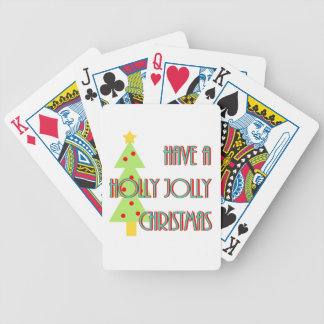 have a holly jolly christmas mid century modern bicycle playing cards