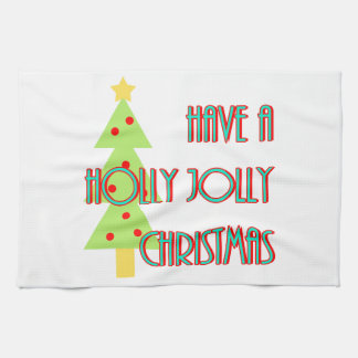 have a holly jolly christmas mid century modern kitchen towel