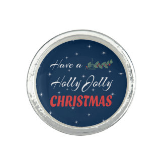 Have a Holly Jolly Christmas Photo Ring