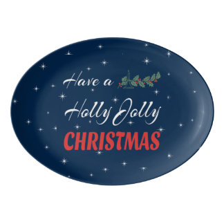 Have a Holly Jolly Christmas Porcelain Serving Platter