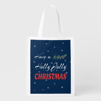 Have a Holly Jolly Christmas Reusable Grocery Bag