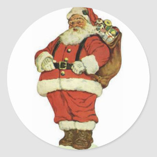 Have a Holly Jolly Christmas Santa Claus Classic Round Sticker