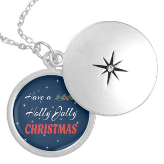 Have a Holly Jolly Christmas Silver Plated Necklace